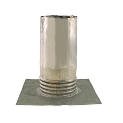 Jones Stephens™ R70400 Roof Flashing With Flange, 10 in L x 12 in W Base, 4 in Pipe, Lead, Domestic