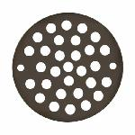 Jones Stephens™ C6089RB Round Stamped Strainer With Screws, 4-1/4 in Nominal, Brass, Oil Rubbed Bronze