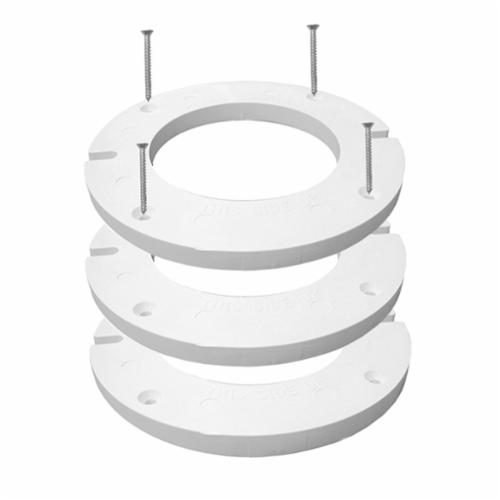 Jones Stephens™ C88500 Closet Complete Flange Extension Kit With Gasket, Plastic, White, Domestic