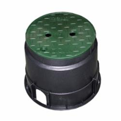 Jones Stephens™ M06010 Round Valve Box With Green Lid, 12-3/4 in Dia x 10 in L, Domestic