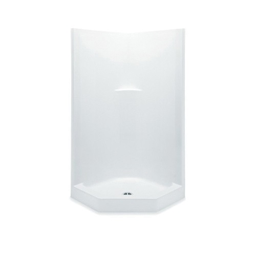 Aquatic 1382NAT-WHT Everyday 1-Piece Shower Stall, 38 in W x 80 in H, AcrylX™ Acrylic, White