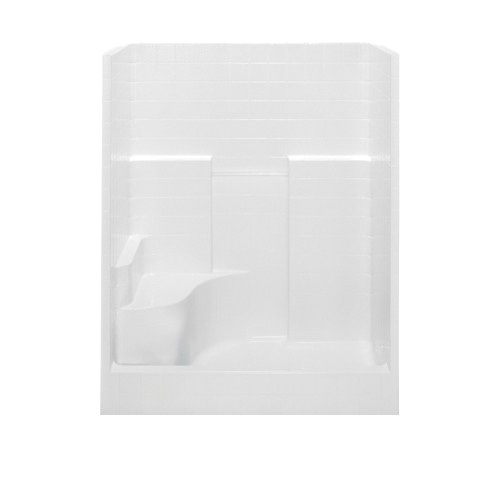 Aquatic Everyday 1603COS-RH-WHT 1-Piece DuraCore Shower Stall, 60 in W x 72 in H, Acrylx™ Acrylic, White