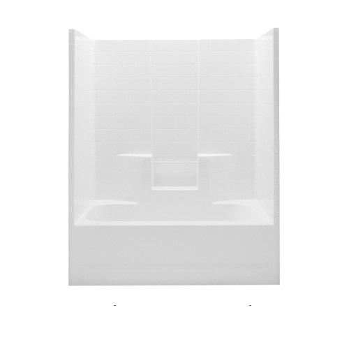 Aquatic 2603CTW-LH-WHT Everyday Tub Shower, 60 in W x 72 in H, AcrylX™ Acrylic, White