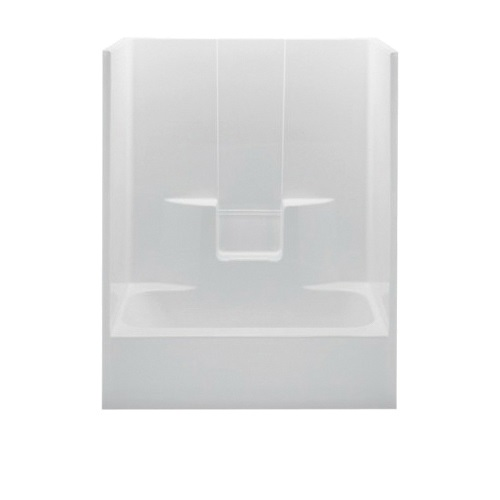 Aquatic 2603SG-RH-WHT Everyday Tub Shower, 60 in W x 72 in H, AcrylX™ Acrylic, White