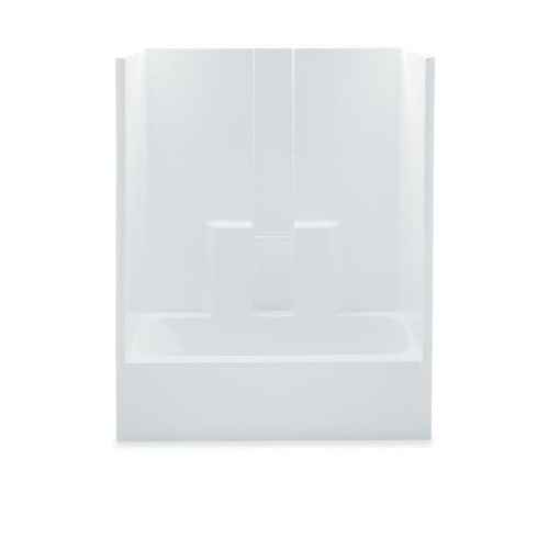 Aquatic 2603SGM-LH-WHT Everyday Tub Shower, 60 in W x 74 in H, AcrylX™ Acrylic, White