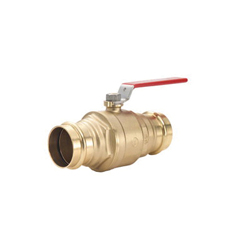 LEGEND LegendPress™ 101-007NL P-200NL Specialty Ball Valve, 1-1/2 in, Press, Brass Body, Full Port, Import