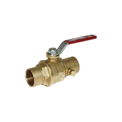 LEGEND 101-515 S-1100 Ball Valve With Drain, 1 in, C, Forged Brass Body, Full Port, Import