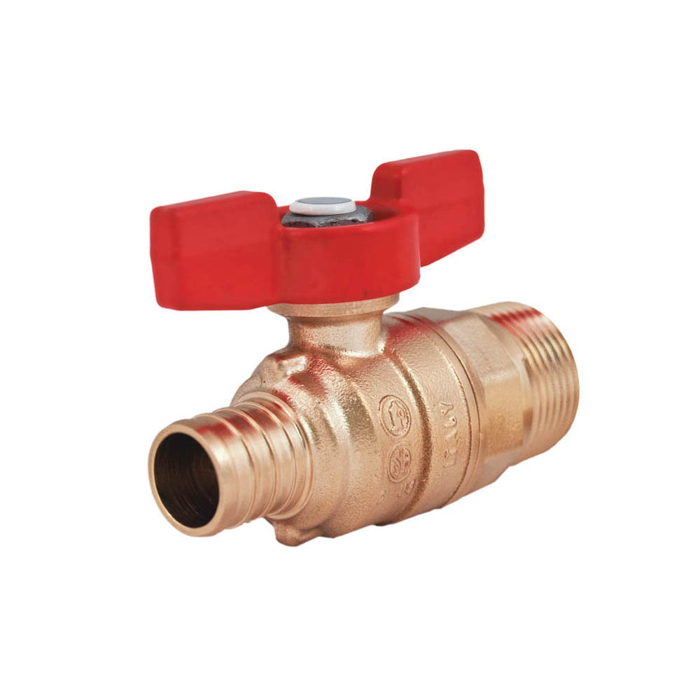 LEGEND 101-581NL T-805MNL Ball Valve, 3/4 in, MNPT x PEX, Forged Brass Body, Full Port, Import