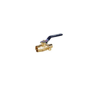 LEGEND 101-596NL T-2007NL Ball Valve With Drain, 1/2 in, PEX, Brass Body, Full Port, Import