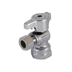 LEGEND 114-603NL T-595NL 1/4 Turn Angle Supply Stop Valve, 1/2 x 3/8 in, FNPT x OD Compression, Brass Body, Import