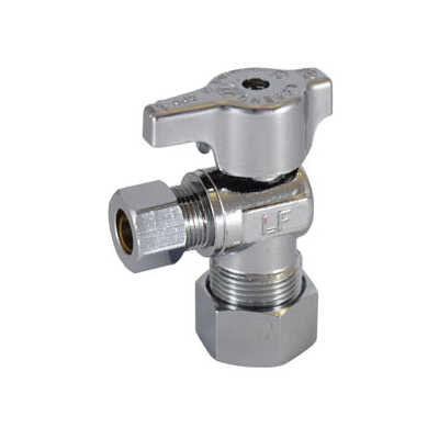 LEGEND 114-604NL T-595NL Angle Ball-Type Supply Stop Valve, 5/8 x 3/8 in, Tube, Brass Body, Import