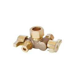 LEGEND 114-631NL T-598NL 1/4 Turn Angle Stop Valve, 5/8 x 3/8 x 3/8 in, OD Compression, Forged Brass Body