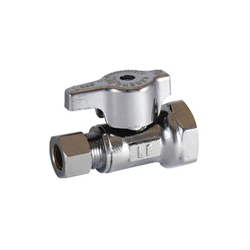 LEGEND 114-703NL T-596NL 1/4 Turn Straight Supply Stop Valve, 1/2 x 3/8 in, FNPT x OD Compression, Forged Brass Body, Import