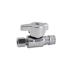LEGEND 114-706NL T-596NL 1/4 Turn Straight Supply Stop Valve, 1/2 in, F1960 PEX x OD Compression, Brass Body, Import