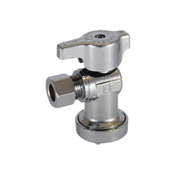LEGEND 114-903NL T-595NL 1/4 Turn Angle Supply Stop Valve, 1/2 x 3/8 in, Insta-Loc® Push Connect x OD Compression, Brass Body, Import