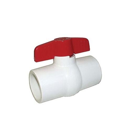 LEGEND 201-407 S-601 Compact Miniature Ball Valve, 1-1/2 in, Solvent, PVC Body, Full Port, Import