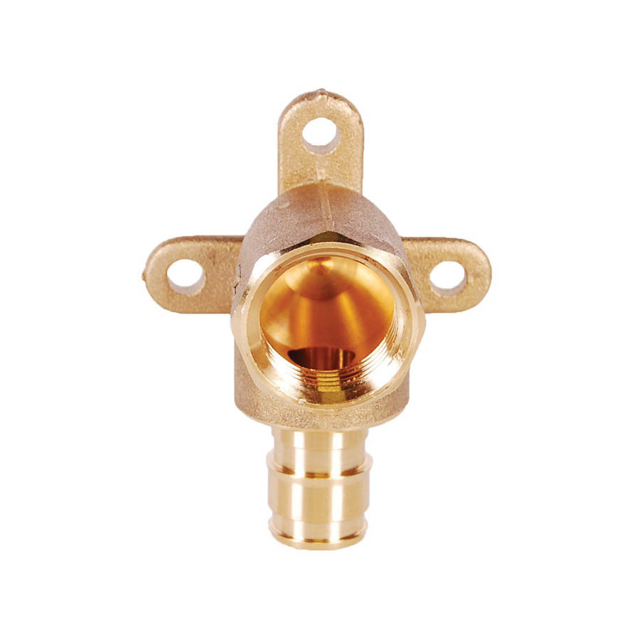 LEGEND 302-235NL Drop-Ear Elbow, 1/2 in, PEX x FNPT, DZR Forged Brass, Import