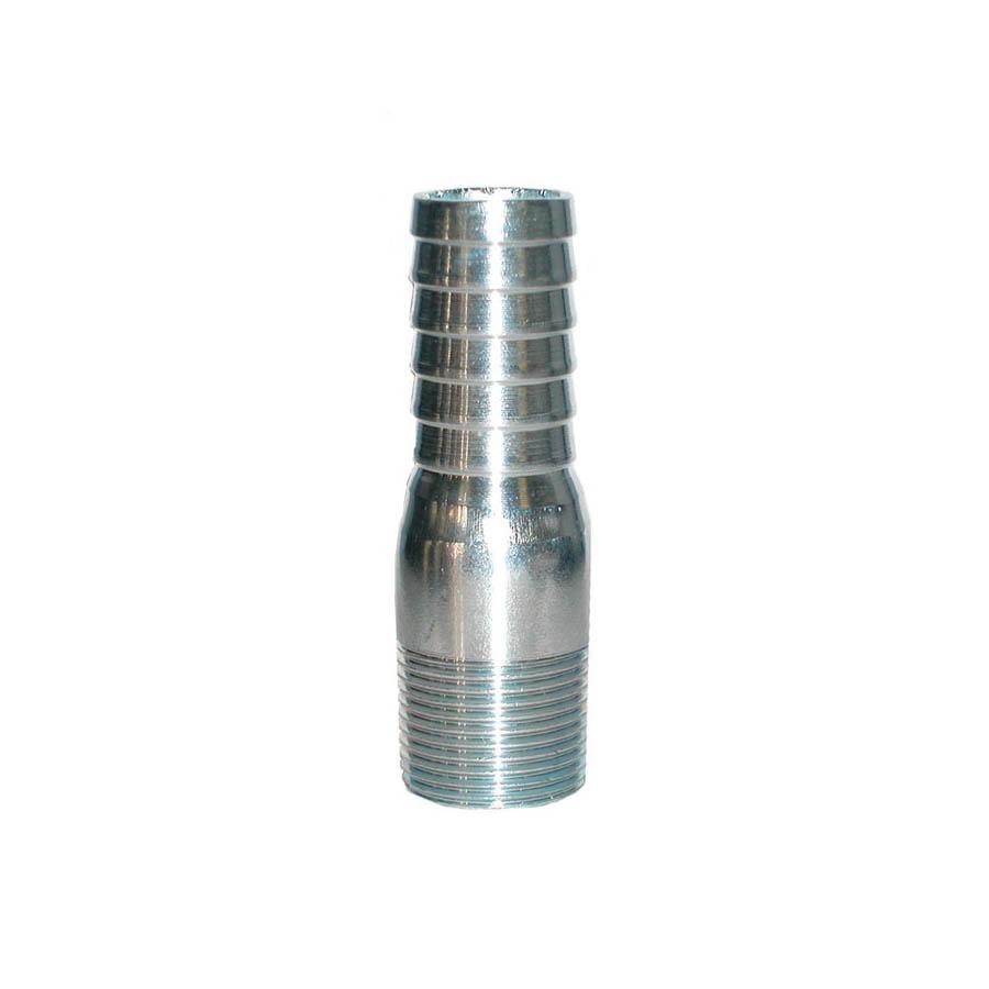 LEGEND 312-305 Insert Male Adapter, 1 in, Barb x MNPT, Steel, Import