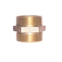 LEGEND 322-533 A-92 Double Hex Nipple, 2 x 2-1/2 in, MNPT x Male NST, Forged Brass, Import
