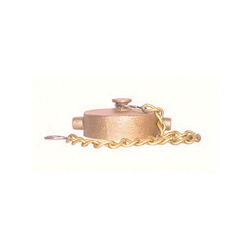 LEGEND 324-103 A-80 Cap With Chain, 2-1/2 in, NST, Brass, Import