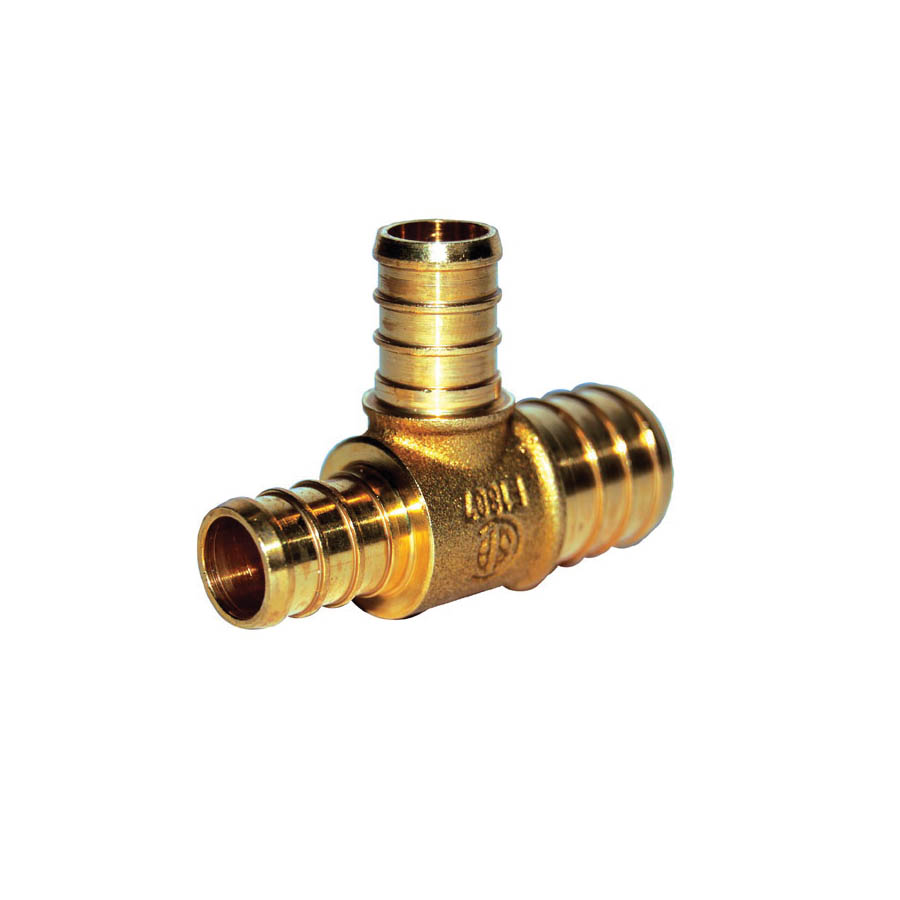 LEGEND 460-233NL Reducing Tee, 2 x 3/4 in, PEX, DZR Forged Brass, Import