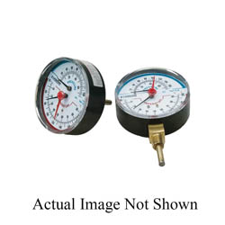 LEGEND 800-673 T-825 Rear Mount Temperature and Pressure Gauge, 0 to 75 psi Measuring, 1/2 in MNPT, +/- 3 % Accuracy, Import