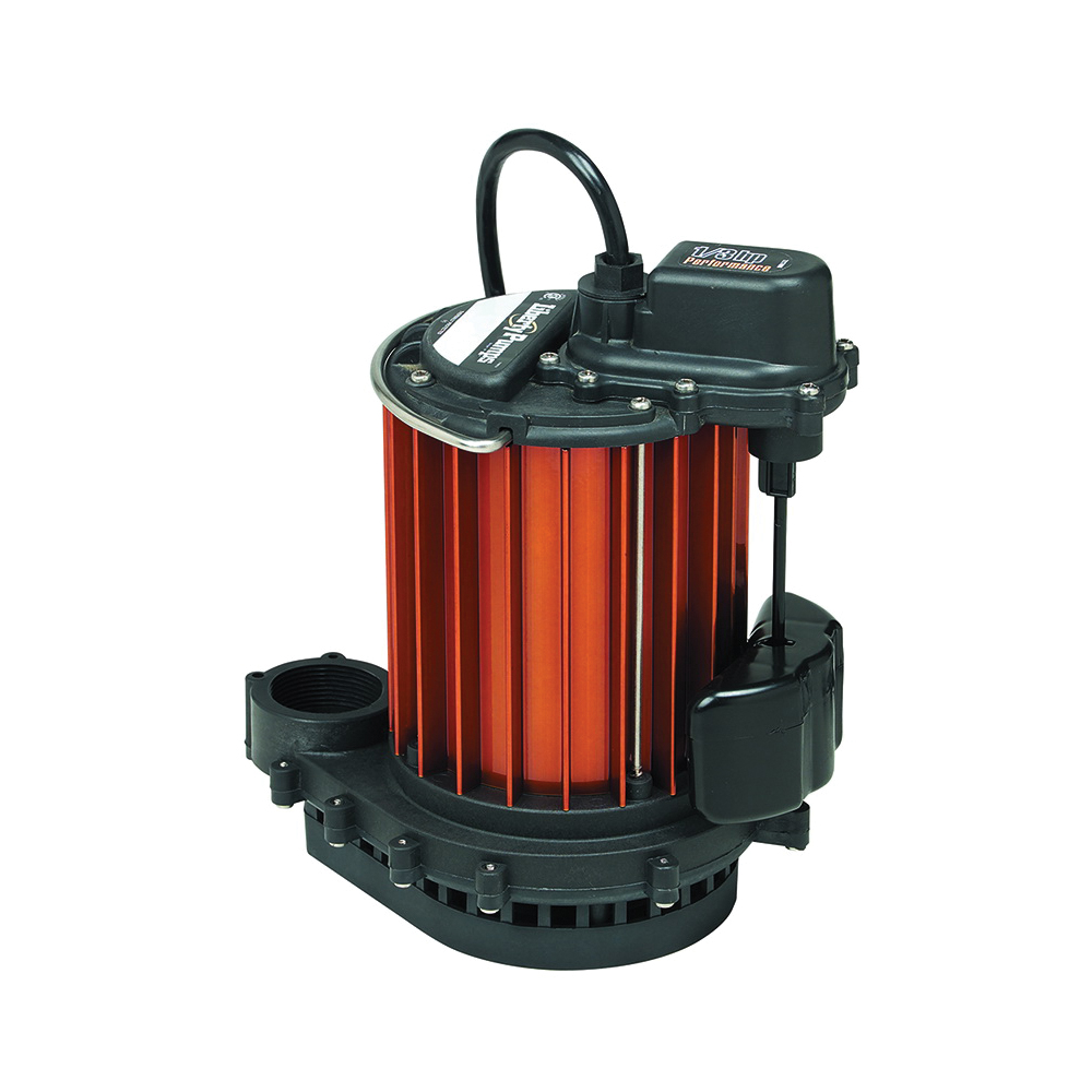 Liberty Pumps® 237 230 Submersible Sump Pump, 30 gpm, 1-1/2 in Outlet, 1/3 hp, Aluminum, Domestic