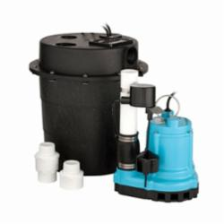 Little Giant® 506065 WRS Automatic Submersible Utility Pump, 12.5 gpm, 1-1/2 in Inlet x 1-1/2 in Outlet, 1/3 hp, Cast Iron