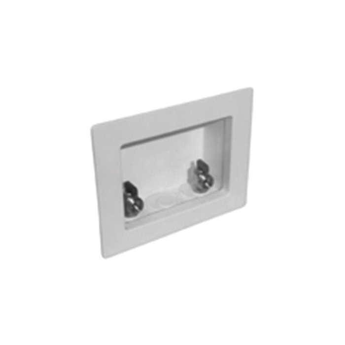 Speciality Products™ Switch Hitter® OB-103 Unassembled Washing Machine Outlet Box With MNPT Valves, Plastic, White