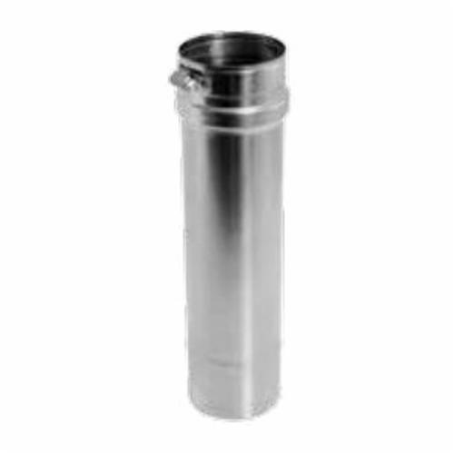 DuraVent® FasNSeal® FSVL1204 Single Wall Special Gas Vent Pipe, 4 in Dia x 12 in L, Stainless Steel