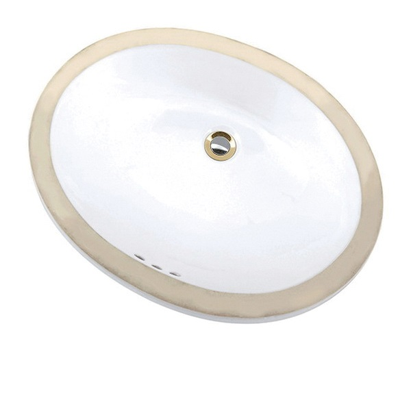 Mansfield® 217 WH Maple Lavatory Sink With Consealed Front Overflow, Oval, 19-3/4 in W x 16 in D x 7-1/8 in H, Undercounter Mount, Vitreous China, White, Domestic