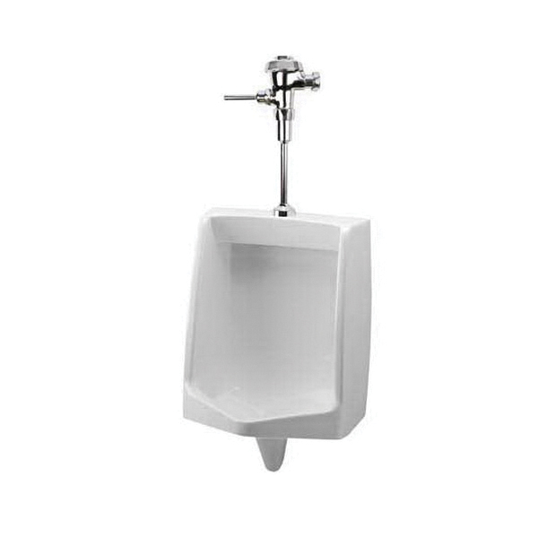 Mansfield® 410UHE WH Cascade® Wash-Down Urinal, 0.5/1 gpf, Top Spud, Wall Mount, White
