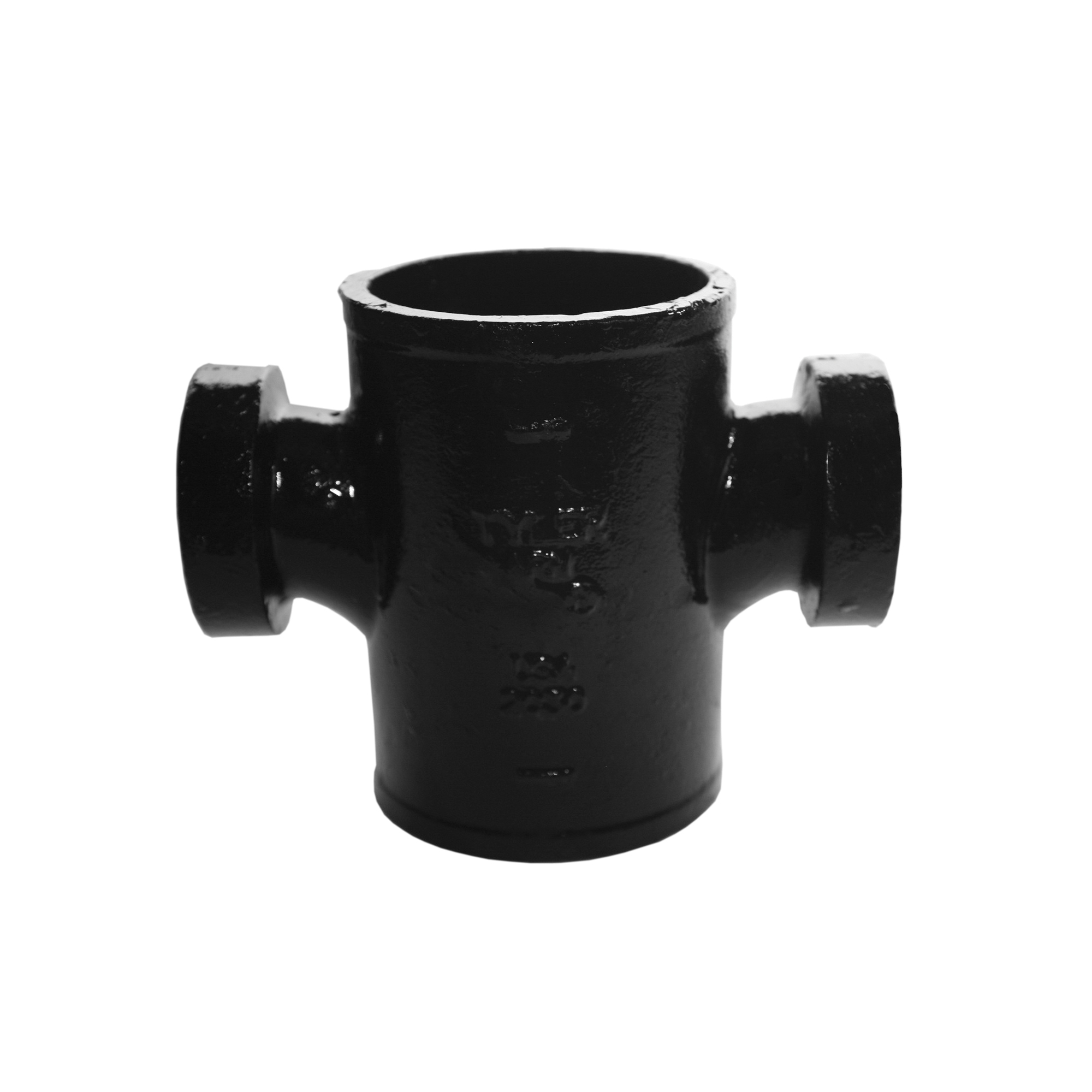 Tyler Pipe 009290 Sanitary Tapped Cross, 2 in, No Hub, Cast Iron, Domestic