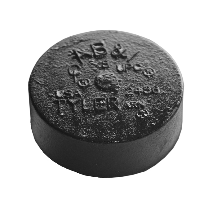 Tyler Pipe 010074 Blind Plug, 5 in, No Hub, Cast Iron, Domestic
