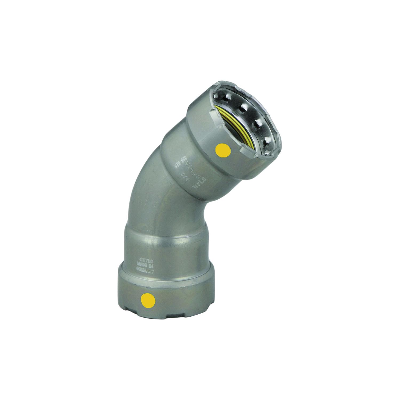 MegaPress®G 25231 45 deg Pipe Elbow, 1/2 in, Press