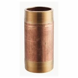 Merit Brass 2008-250 Pipe Nipple, 1/2 in x 2-1/2 in L MNPT, Brass, SCH 40/STD, Seamless, Domestic