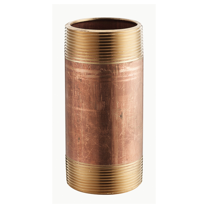 Merit Brass 2008-400 Pipe Nipple, 1/2 in x 4 in L MNPT, Brass, SCH 40/STD, Seamless, Domestic