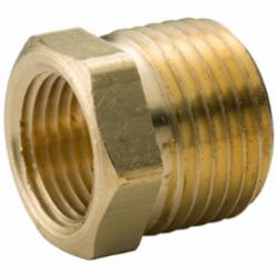 Merit Brass XNL114-1204 Hex Head Pipe Bushing, 3/4 x 1/4 in, MNPT x FNPT, 125 lb, Brass, Rough, Import