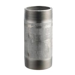 Merit Brass 4020-1200 Pipe Nipple, 1-1/4 in x 12 in L NPT, 304/304L Stainless Steel, SCH 40/STD, Welded, Domestic