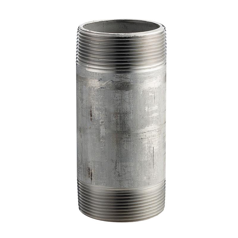 Merit Brass 4020-800 Pipe Nipple, 1-1/4 in x 8 in L NPT, 304/304L Stainless Steel, SCH 40/STD, Welded, Domestic