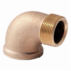 Merit Brass XNL103-08 90 deg Street Elbow, 1/2 in, MNPT x FNPT, 125 lb, Brass, Rough, Import