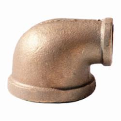 Merit Brass XNL101-1208 90 deg Reducing Pipe Elbow, 3/4 x 1/2 in, FNPT, 125 lb, Brass, Rough, Import