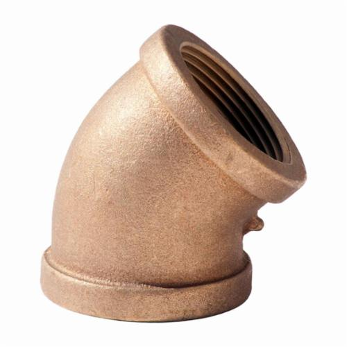 Merit Brass XNL102-48 45 deg Pipe Elbow, 3 in, FNPT, 125 lb, Brass, Rough, Import