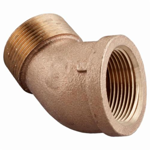 Merit Brass NL103A-08 45 deg Street Elbow, 1/2 in, MNPT x FNPT, 125 lb, Brass, Rough, Domestic