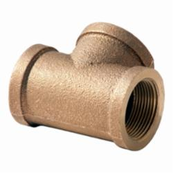 Merit Brass XNL106-24 Straight Pipe Tee, 1-1/2 in, FNPT, 125 lb, Brass, Rough, Import
