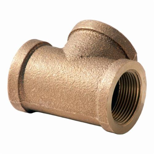 Merit Brass NL106-32 Straight Pipe Tee, 2 in, FNPT, 125 lb, Brass, Rough, Domestic