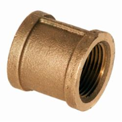 Merit Brass XNL111-12 Straight Pipe Coupling, 3/4 in, FNPT, 125 lb, Brass, Rough, Import