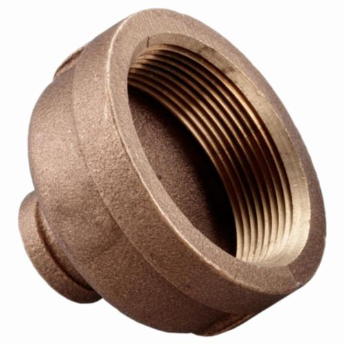 Merit Brass XNL112-2008 Reducing Pipe Coupling, 1-1/4 x 1/2 in, FNPT, 125 lb, Brass, Rough, Import