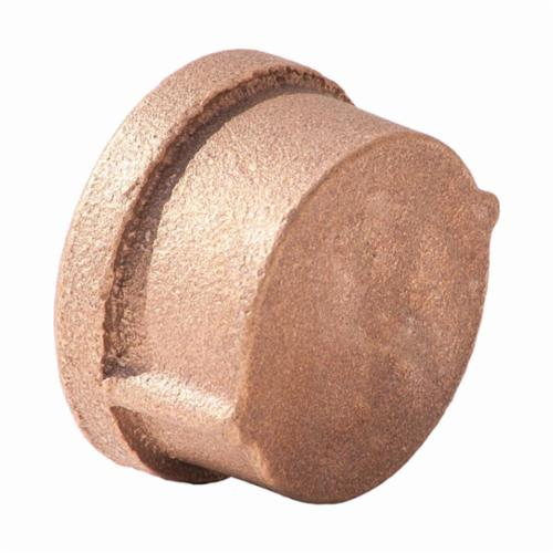 Merit Brass XNL116-12 Pipe Cap, 3/4 in, FNPT, 125 lb, Brass, Rough, Import