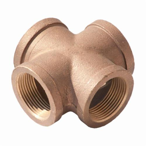 Merit Brass XNL110-32 Pipe Cross, 2 in, FNPT, 125 lb, Brass, Rough, Import
